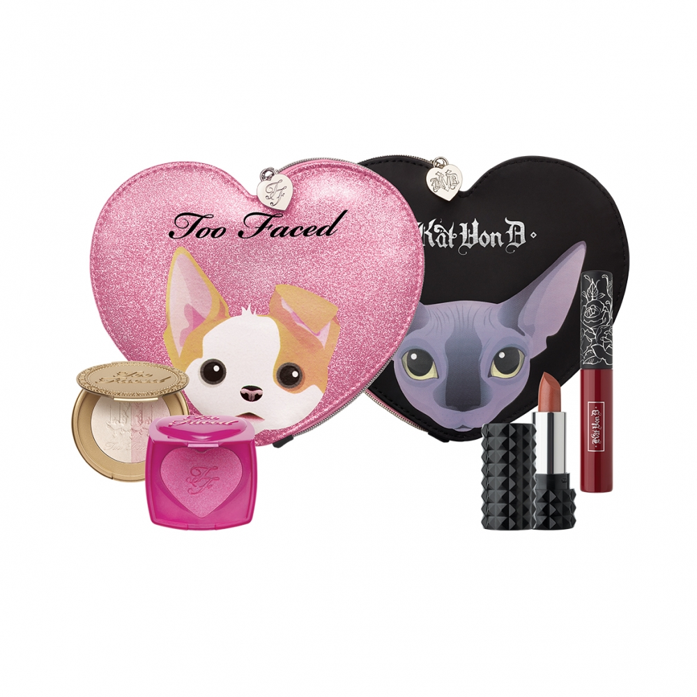 KAT VON D TOO FACED BETTER TOGETHER CHEEK & LIP MAKEUP BAG SET EDYCJA LIMITOWANA