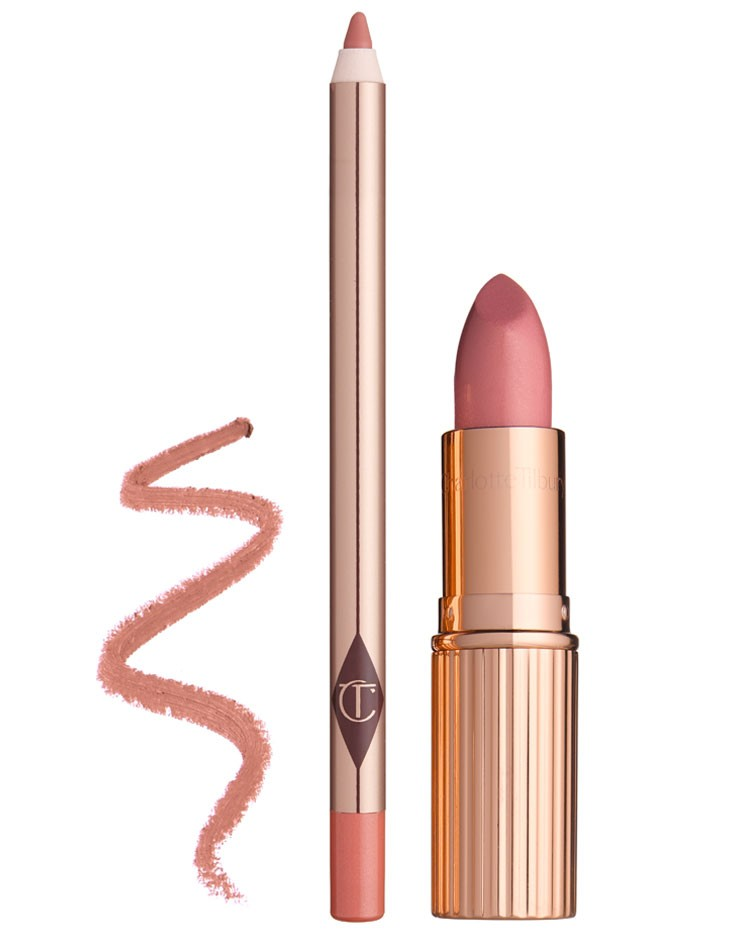 CHARLOTTE TILBURY LUSCIOUS LIP SLICK DUO ZESTAW POMADKA PLUS KONTURÓWKA DO UST