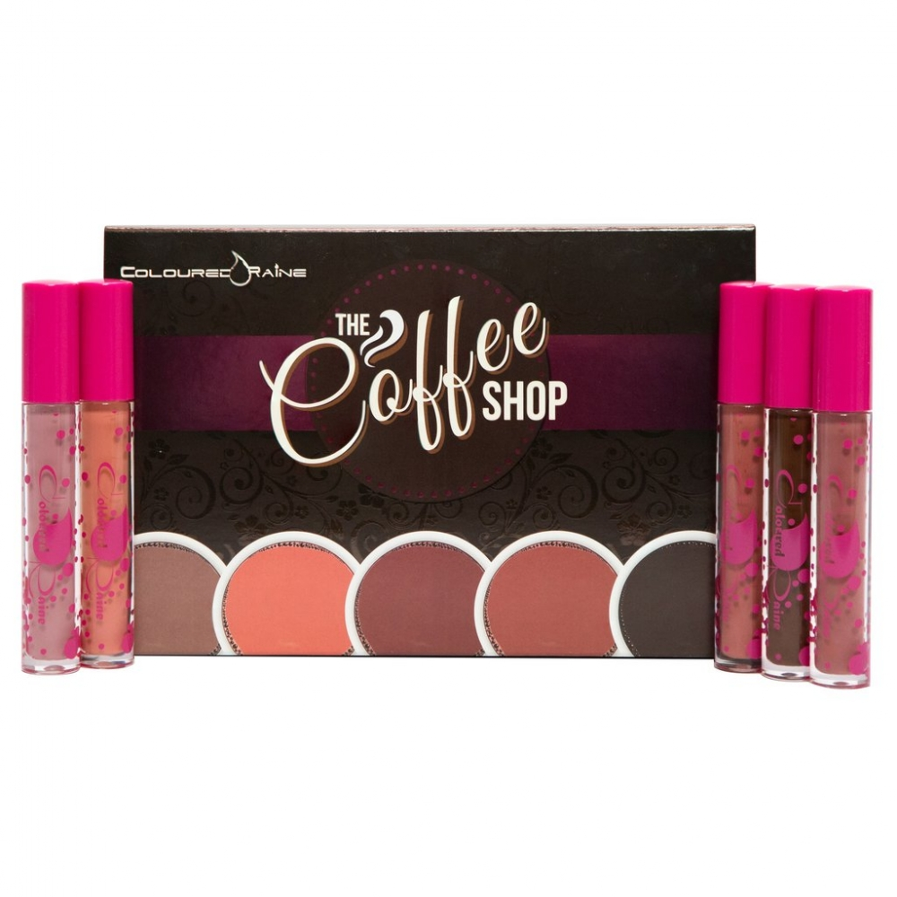 COLOURED RAINE THE COFFE SHOP ZESTAW POMADEK DO UST