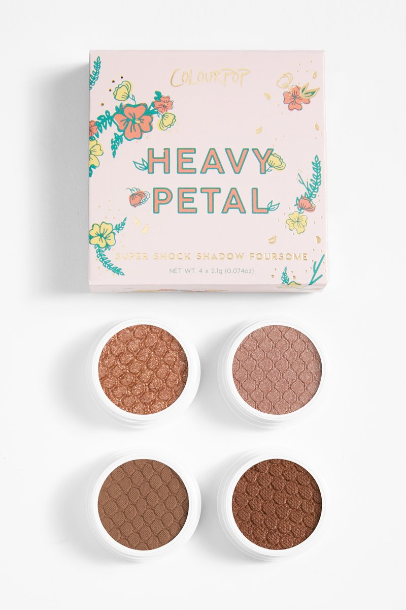 COLOURPOP HEAVY PETAL FOURSOME PALETA CIENI