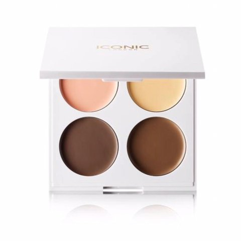 ICONIC LONDON CREAM CONTOUR QUAD PALETA DO KONTUROWANIA NA MOKRO