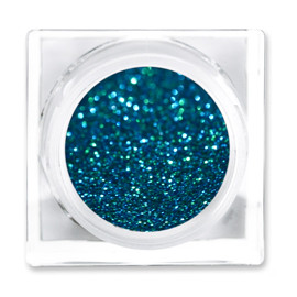 LIT COSMETICS COLOURS EYESHADOW GLITTER JAR PEACOCK