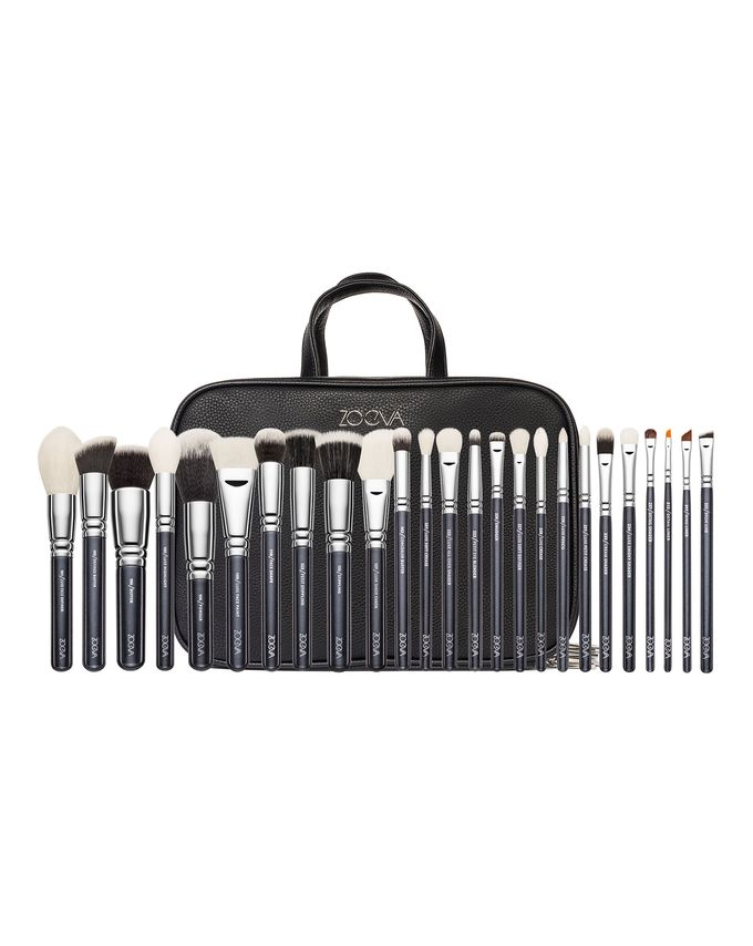ZOEVA MAKE UP ARTIST ZOE BAG PROFESSIONAL BRUSH SET ZESTAW 25 PĘDZLI DO TWARZY I OCZU
