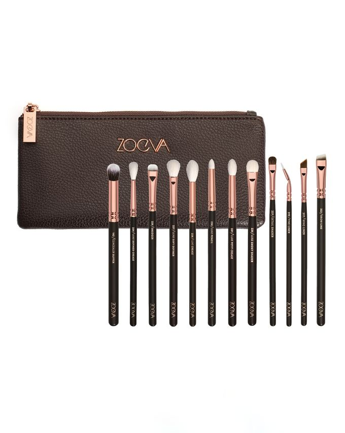 ZOEVA ROSE GOLDEN COMPLETE EYE BRUSH SET VOLUME 1 ZESTAW 12 PĘDZLI DO OCZU