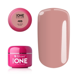 SILCARE BASE ONE COLOR GEL ŻEL DO PAZNOKCI LA VIVA PINK 45