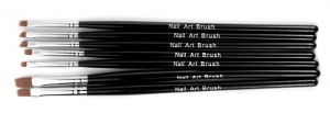 NEONAIL BRUSH NATURAL 7 BRUSHES SET KOMPLET 7 PĘDZELKÓW NATURALNYCH