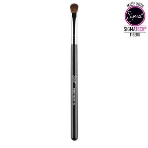 SIGMA BEAUTY MEDIUM SWEEPER BRUSH PĘDZEL DO CIENI CHROME FERRULE E54
