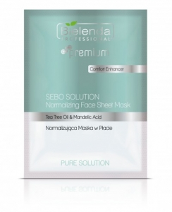 BIELENDA PURE SOLUTION FACE SHEET MASK NORMALIZUJĄCA MASKA W PŁACIE