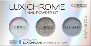 CATRICE LUX CHROME NAIL POWDER KIT ZESTAW PUDRÓW DO PAZNOKCI