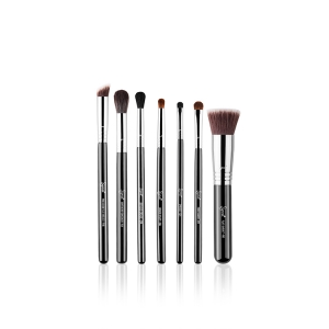 SIGMA BEAUTY BEST OF SIGMA BRUSH SET CHROME FERRULE ZESTAW PĘDZLI DO MAKIJAŻU