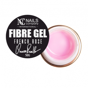 NAILS COMPANY FIBRE GEL VINCENTO RUSELLO ŻEL DO PAZNOKCI FRENCH ROSE