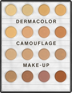 KRYOLAN DERMACOLOR CAMUFLAGE MINI-PALETTE WITCH 16 SHADES H 16