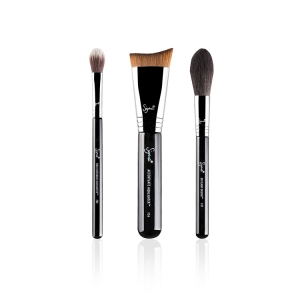 SIGMA BEAUTY HIGHLIGHT EXPERT BRUSH SET ZESTAW 3 PĘDZLI