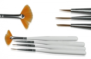 NEONAIL BRUSH SET FOR DECORATIONS KOMPLET 4 PĘDZELKÓW DO ZDOBIEŃ