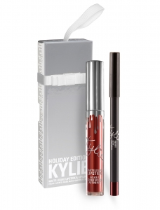 KYLIE COSMETICS LIMITED EDITION HOLIDAY 2016 LIP KIT ZESTAW KONTURÓWKA PLUS POMADKA