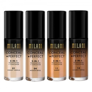 MILANI COSMETICS CONCEAL + PERFECT 2-IN-1 FOUNDATION + CONCEALER KOREKTOR + PODKŁAD
