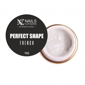 NC NAILS COMPANY PERFECT SHAPE ŻEL DO PAZNOKCI - FRENCH 15G