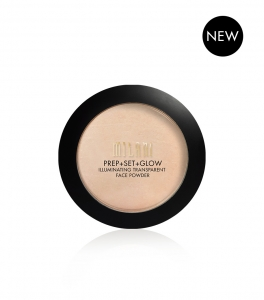 MILANI COSMETICS PREP+SET+GLOW ILLUMINATING TRANSPARENT POWDER PUDER ROZSWIETLAJĄCY