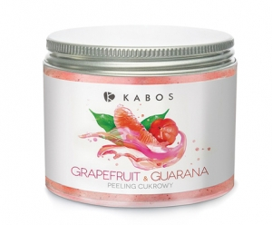 KABOS PEELING CUKROWY: GRAPEFRUIT & GUARANA 500ML