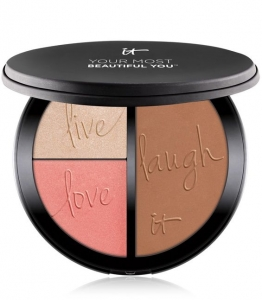 IT COSMETICS YOUR MOST BEAUTIFUL YOU ANTI-AGING MATTE BRONZER, RADIANCE LUMINIZER & BLUSH PALETTE